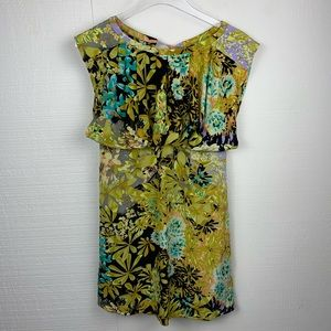 Tracy Reese New York Multicolor Floral Cap Sleeve